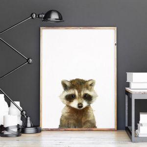 Little Raccoon by Amy Hamilton | Unframed Art Print