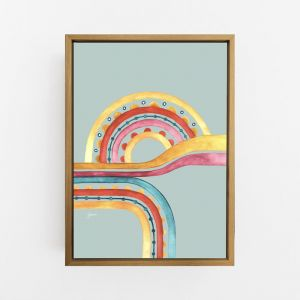 Little River Love in Sunset Haze Print by Pick a Pear | Canvas Wall Art
