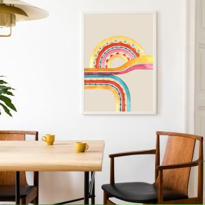Little River Love In Sunset Ivory | Framed Fine Art | by Pick a Pear