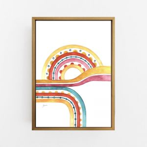 Little River Love in Sunset White Wall Art Print | by Pick a Pear | Canvas