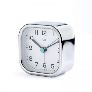 Liv Silent Alarm Clock | Chrome