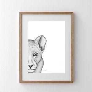 Livinia the Lion Cub | Art Print | Dots by Donna