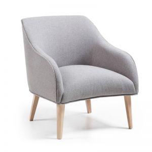 Lobby Upholstered Armchair   Grey