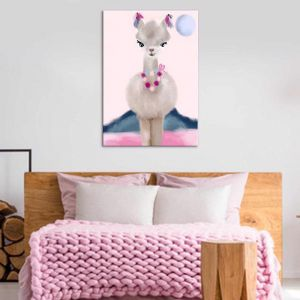 Lola Llama | Children's | Canvas Print