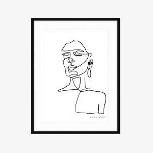Lolita | Fine Art Print | One Line by PHOLIO