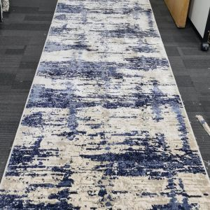 Lonsdale Pre-made Hall Runner | Beige Blue - 80 x 300 cm