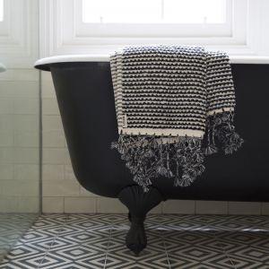 Loom Towels Black & White Wave Bath Mat