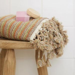 Loom Towels Sand Dune | Bath Mat | Stripe