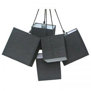 Loria Black Square Cluster Pendant Lights | Modern Furniture
