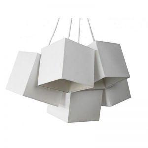 Loria White White Square Cluster Pendant Lights | Modern Furniture