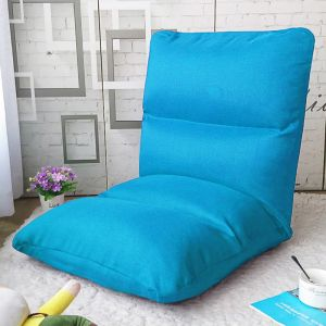 Lounge Floor Recliner Adjustable Lazy Sofa Bed Folding Game Chair Blue