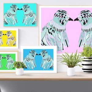 Love Birds | Giclee Print | by Safo