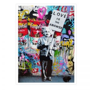 Love Is The Answer Street Art | Unframed Art Print