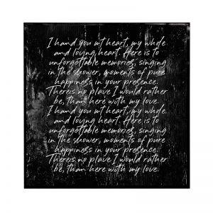 Love Script | Framed Art Print