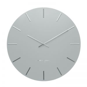 Luca Light Grey 40cm SILENT Wall Clock