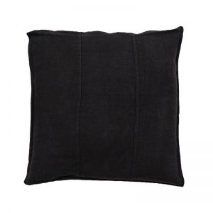 Luca Linen Cushion | Black | Medium