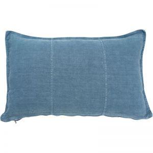 Luca Linen Cushion   Blue Azure   Medium