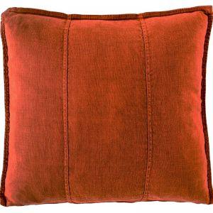 Luca Linen Cushion | Burnt Orange | Large
