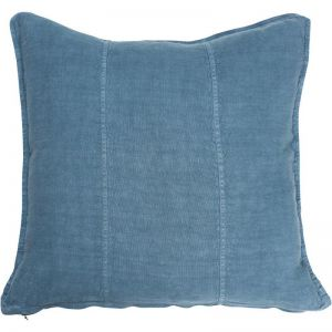 Luca Linen Cushion   Rectangle   Blue Azure