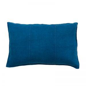 Luca Linen Cushion   Rectangle   Indigo