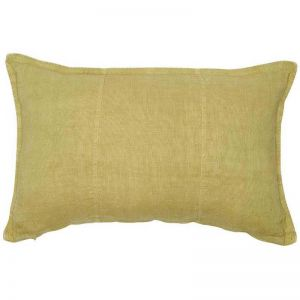 Luca Linen Cushion | Rectangle | Lime