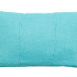Luca Linen Cushion | Rectangle | Turquoise