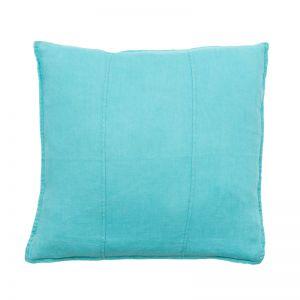 Luca Linen Cushion | Turquoise | Large