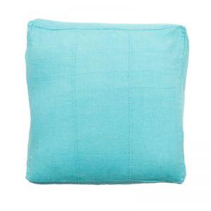 Luca Linen Floor Cushion | Turquoise