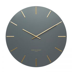 Luca Silent Wall Clock | 30cm | Charcoal