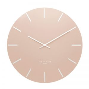 Luca Wall Clock | 40cm | Metal | Peach