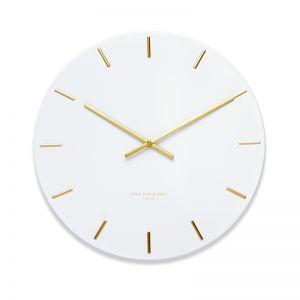 Luca White 40cm SILENT Wall Clock