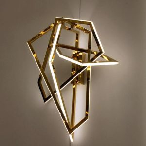 Lucretia Chaumet Space-X Stainless Steel LED Wall Lamp | Titanium Gold