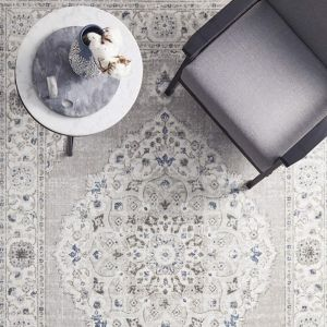 Lucy Floor Rug | Silver Blue