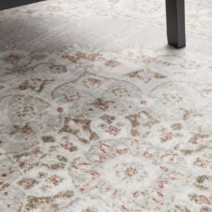 Lucy Floor Rug | Silver Rose