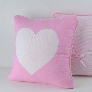 Lucy Pink Heart Cushion