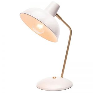 Lucy Table Lamp | White & Brushed Brass | Schots