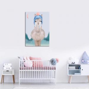 Luka Llama | Childrens | Canvas Print