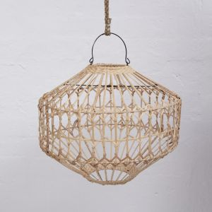 Luna Flat Rattan Light Shade in Natural