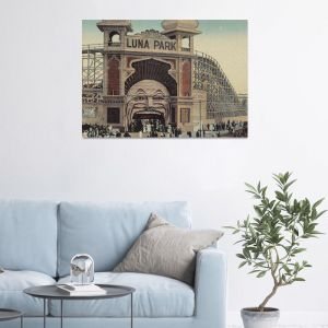 Luna Park - Saint Kilda 2-Colour | Stretched Canvas/ Printed Panel