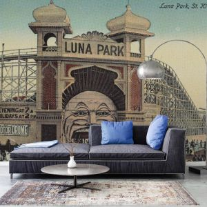 Luna Park - Saint Kilda 2-Colour | Wallpaper
