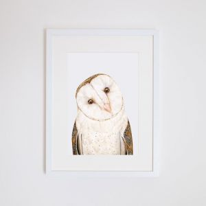 Luna the Barn Owl | Giclee Art Print | by For Me By Dee