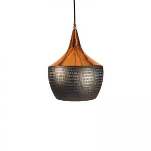 Lunara Copper & Matte Black Pendant Light Shade