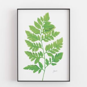 Lush Fern Living Art Leaf Print by Pick a Pear | Unframed