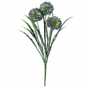 Lush Flowering Purple Hydrangea Stem | 35cm | UV Resistant