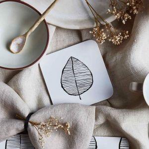 Lush Leaf Cork Backed Coasters