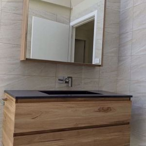Luxcrete Casa Timber Vanity | Integrated Concrete Sink | 20mm