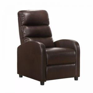 Luxury Leather Recliner | Brown