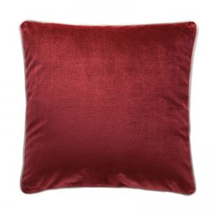 Luxury Velvet Cushion | Merlot