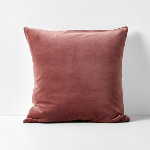 Luxury Velvet European Pillowcase | Mahogany by Aura Home