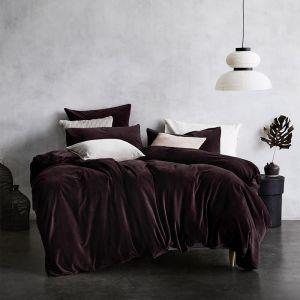 Luxury Velvet Quilt Cover | Fig by Aura Home